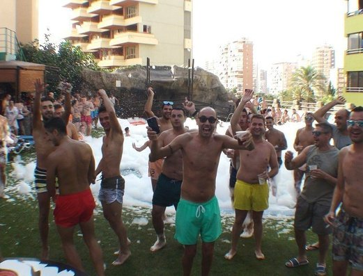 Piscina Exterior Apartamentos Benidorm Celebrations™ Pool Party Resort (Adults Only)