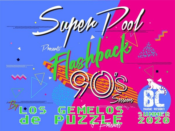 Super pool flashback 90's apartamentos benidorm celebrations ™ music resort (adults only)