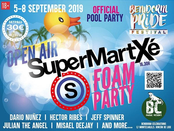 Open air supermartxe pool party apartamentos benidorm celebrations™ music resort (adults only)